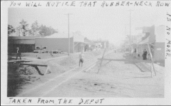 """Rubberneck Row"" as seen from the Long Beach Depot"