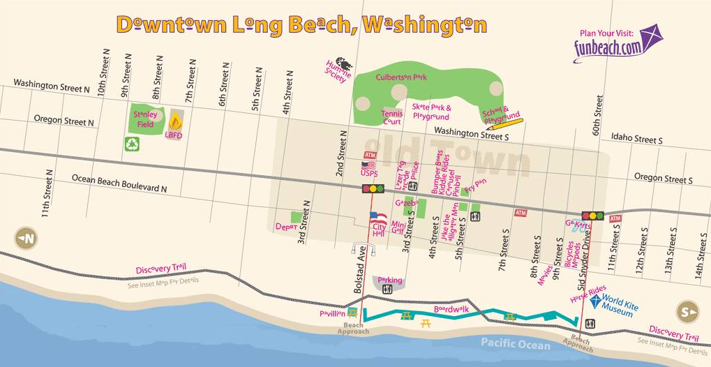 Can You Find City Of Long Beach Washington Long beach is a city in pacific county, washington, united states. city of long beach washington