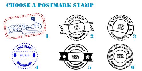 Choose a postmark stamp